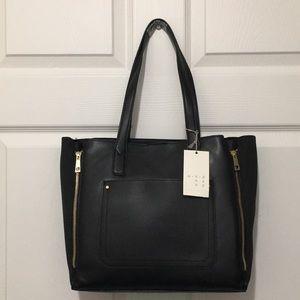 A New Day Black Zipper Tote Bag